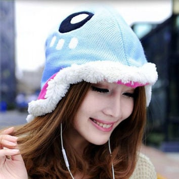 Cute Parrot Shape Design Fuzzy Knitted Hat For Women