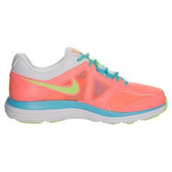 Nike Performance DUAL FUSION LITE 2 - Cushioned running shoes - lava glow/flash lime/white - Zalando.co.uk