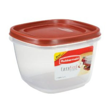 Rubbermaid Square Food Storage Container 7 Cup Clear Base