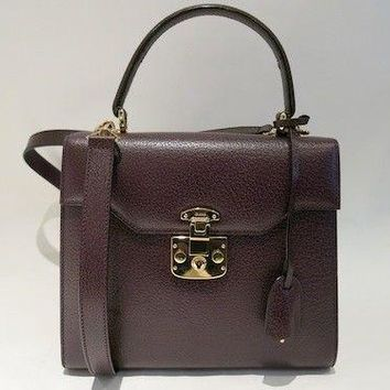 Authentic Vintage GUCCI Kelly Shape 2 way Bag in Purple