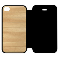 Wooden Panel iPhone 4 | 4S Flip Case Cover