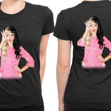 DCCKL83 Melanie Martinez On Billboard Photo 2 Sided Womens T Shirt