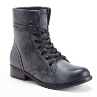 Women's Fold-Over Combat Boots