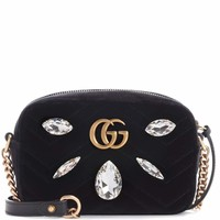 GG Marmont Mini velvet crossbody bag