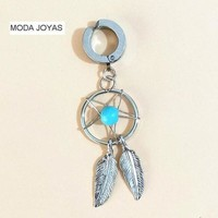 ac DCCKO2Q New fake helix Belly Button Rings Surgical Steel Barbell Dream Catcher Navel Body Piercing Jewelry