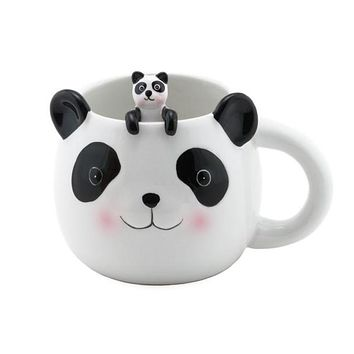 Ceramic Panda Cup with Spoon