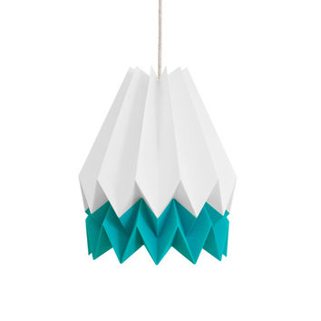 Origami Lamp | CARIBBEAN Blue Stripe | Summer Collection | Original Lighting | FREE SHIPPING
