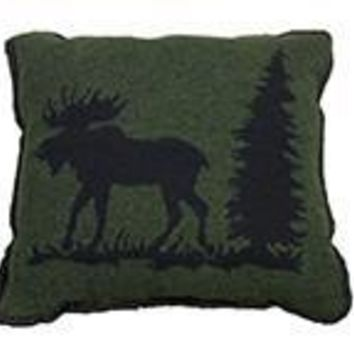 Rustic Moose Pillow