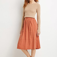 Gathered A-Line Skirt
