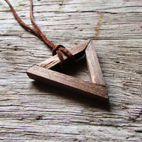 Wood Triangle Necklace