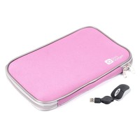 """DURAGADGET Pink 17.5"""" Neoprene Laptop Zip Case With USB Mini Mouse (Fits Acer Aspire 17.3"""", HP Pavilion G7 & Samsung RV711 17.3"""")"""