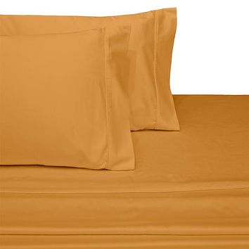Queen GOLD 600 Thread count Solid 100% Combed cotton sheet sets