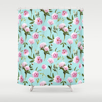 Peonies In Her Dreams Beach Towel by Lisa Argyropoulos