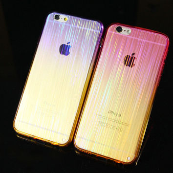 Cool Laser Transparent iPhone 5s 6s 6 Plus creative cases