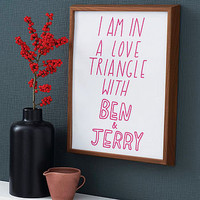 'love triangle' poster by the joy of ex foundation | notonthehighstreet.com