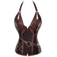 Steampunk Corset and bustier Brown Halloween Costume