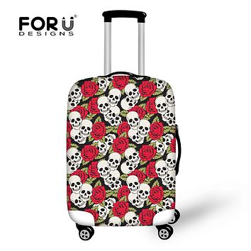 FORUDESIGNS Punk Skull Printed Trolley Case for 18-30 Inch Suitcase Thick Elastic Luggage Protective Cover Anti-dust Rain Covers