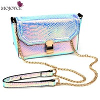2017 New Holographic Laser Clutch Crossbody Bag