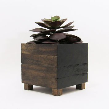 Succulent Planter, Modern Planter, Wood Planter, Geometric Planter, Succulent Pot, Rustic Planter, Planter Box, Indoor Planter, Unique