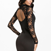 Cut Out Lace Bodycon