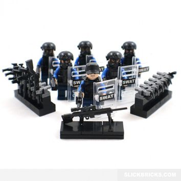 Police SWAT Minifigures - Lego Compatible