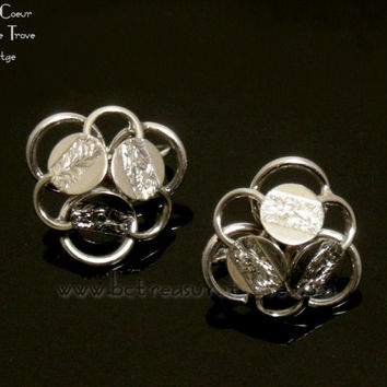 Sarah Coventry Vintage Earrings Young and Gay Silvertone