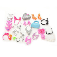 Doll Plastic Mix Style Accessories For Barbie Doll Girls Gift Pretend Play KEW