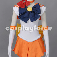 Sailor Moon Sailor Venus  Cosplay Costume With Two Headwears