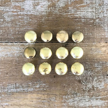 Drawer Knobs 12 Small Drawer Pulls Small Brass Knobs Dresser Knobs Cabinet Door Knobs Home Improvement Mid Century Hardware Gold Knobs