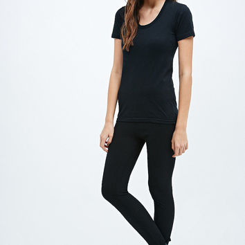Ribbed Stirrup Leggings in Black - Urban Outfitters