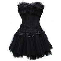 GE-199 - Black lace Corset with Tutu