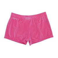 Bubble Gum Pink Velvet Micro Mini Shorts | Streetwear