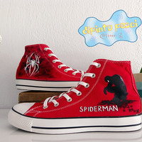 Spiderman Hand Painted Custom Shoes