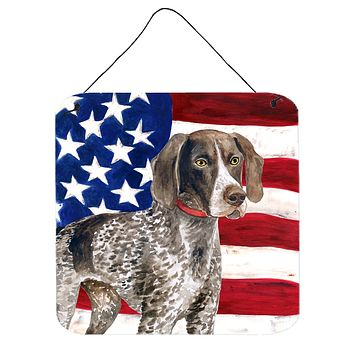 German Shorthaired Pointer Patriotic Wall or Door Hanging Prints BB9641DS66