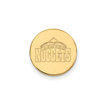 NBA 14k Yellow Gold Plated Silver Denver Nuggets Lapel Pin