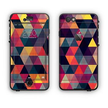 The Triangular Abstract Vibrant Colored Pattern Apple iPhone 6 Plus LifeProof Nuud Case Skin Set