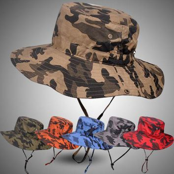 PEAPGB2 Pluz Size Bucket Hat for Men Big Head Male Summer Outdoors Fishing Hat Women Camouflage Sunscreen Fisherman Sun Hat 59-63cm