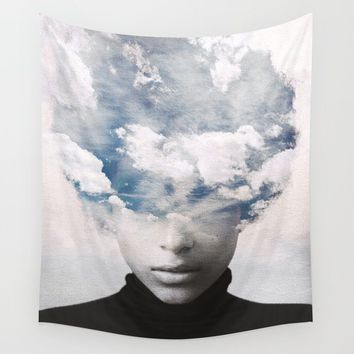 clouds Wall Tapestry by dada22