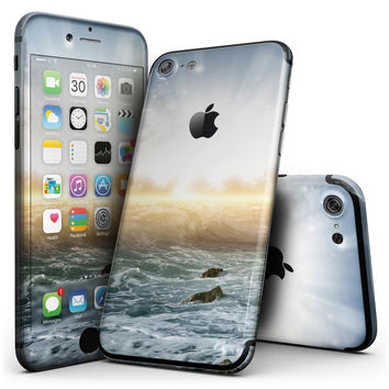 Majestic Sky on Crashing Waves - 4-Piece Skin Kit for the iPhone 7 or 7 Plus