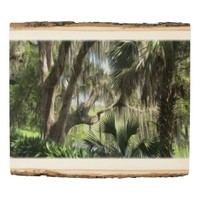 Old Florida Wall Art Palm Trees and River