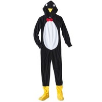 Women's Penguin Footie Pajama - Black