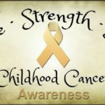 Childhood Cancer Hope Strength Love Awareness License Plate