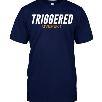 Triggered Overekt T Shirt for gamers and esports fans