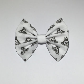 Fall Out Boy Hair Bow & Earrings