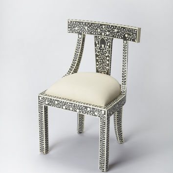 Bone Inlay Black Bone Inlay Accent Chair