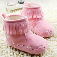 Girl Soft Bottom Winter Warm Baby Infant Boots