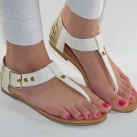 Womens Sandals T-Strap Gladiator Thong Sandal in Gold White Blue Zebra Cheetah