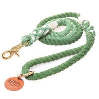 Grass Green Ombré Rope Dog Leash