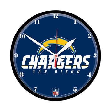 San Diego Chargers NFL Round Wall Clock
