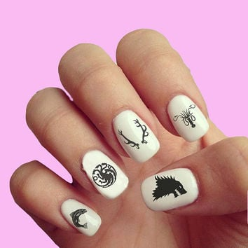 Game of Thrones  - Nail Art - Nail Decals